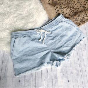 Aerie Denim Looking Beach Shorts